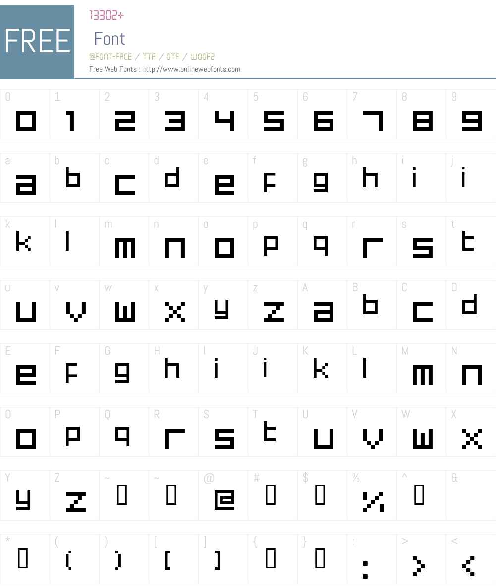 superphonic Font Screenshots