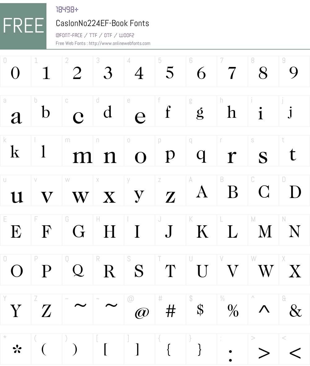 CaslonNo224EF-Book Font Screenshots