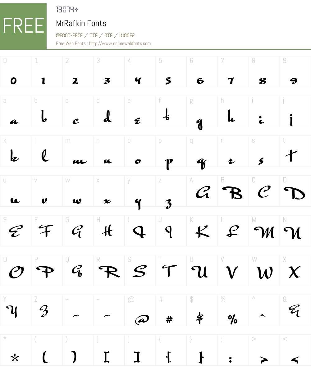 MrRafkin Font Screenshots