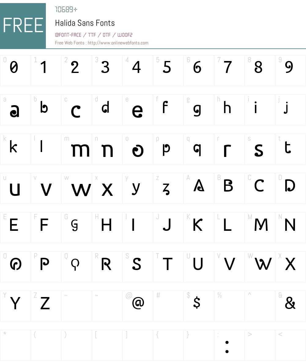 Halida Sans Font Screenshots
