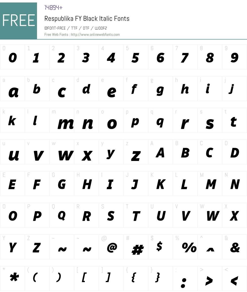Respublika FY Font Screenshots