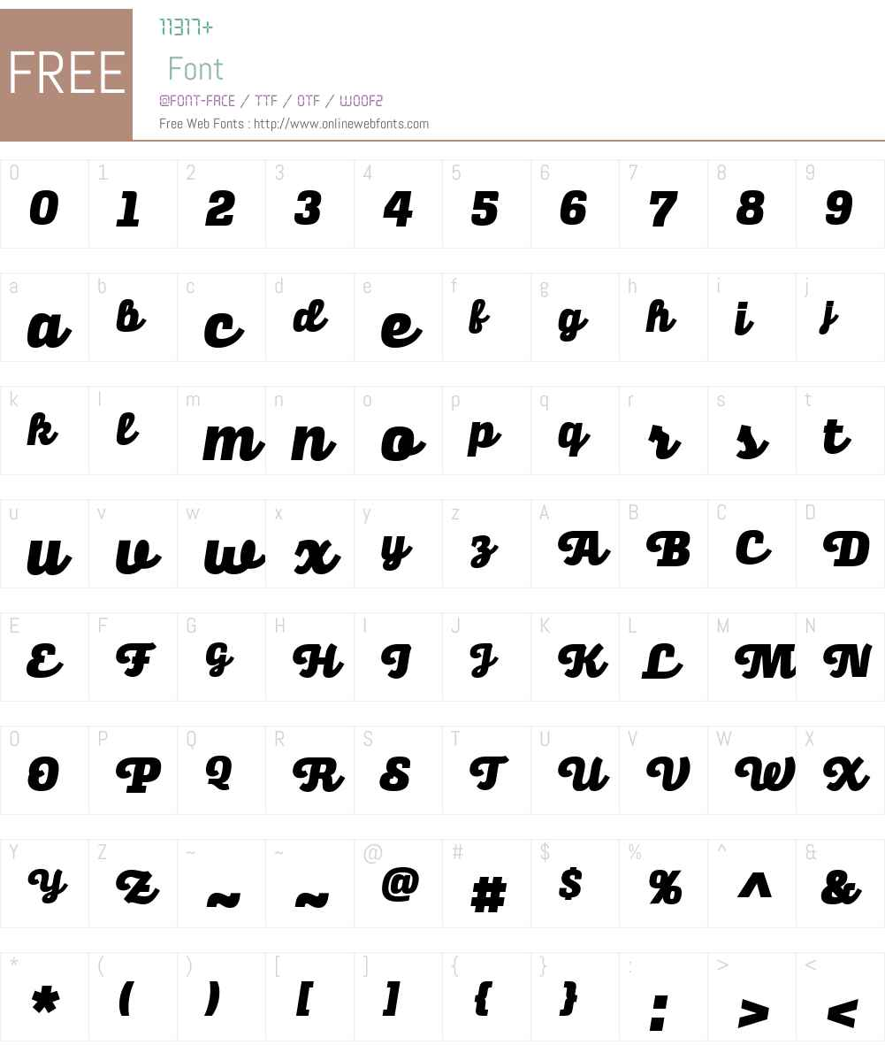 AlianzaW03-Script900 Font Screenshots