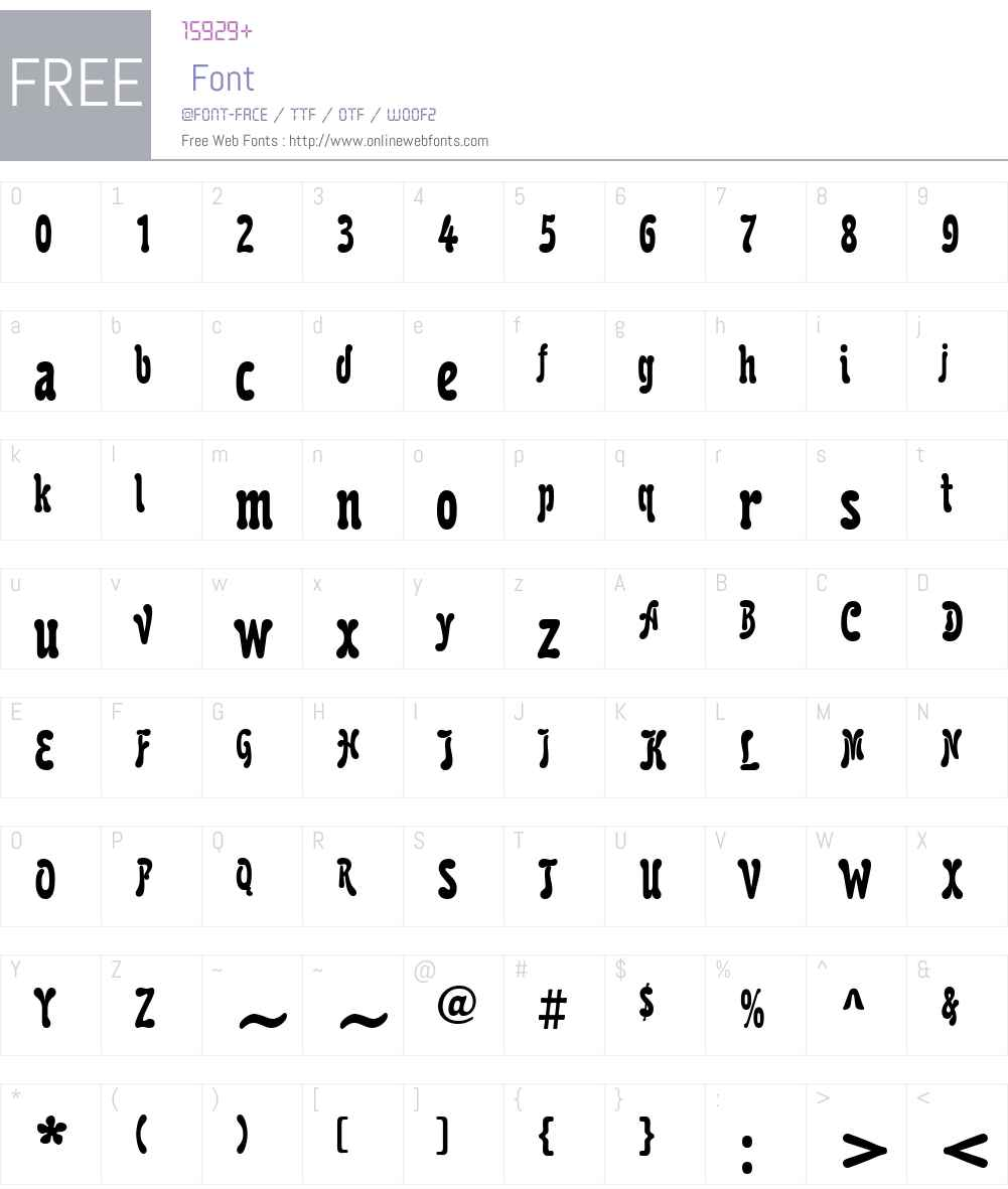 KarollaW01-NarrowBold Font Screenshots