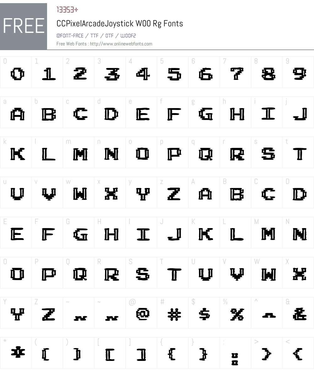 Pixel Arcade Font Screenshots
