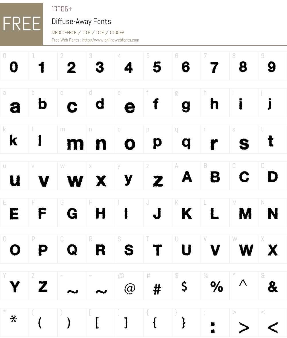 Diffuse-Away Font Screenshots