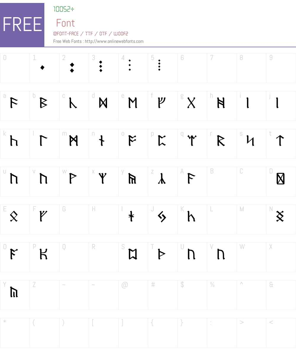 Dwarf Runes Font Screenshots