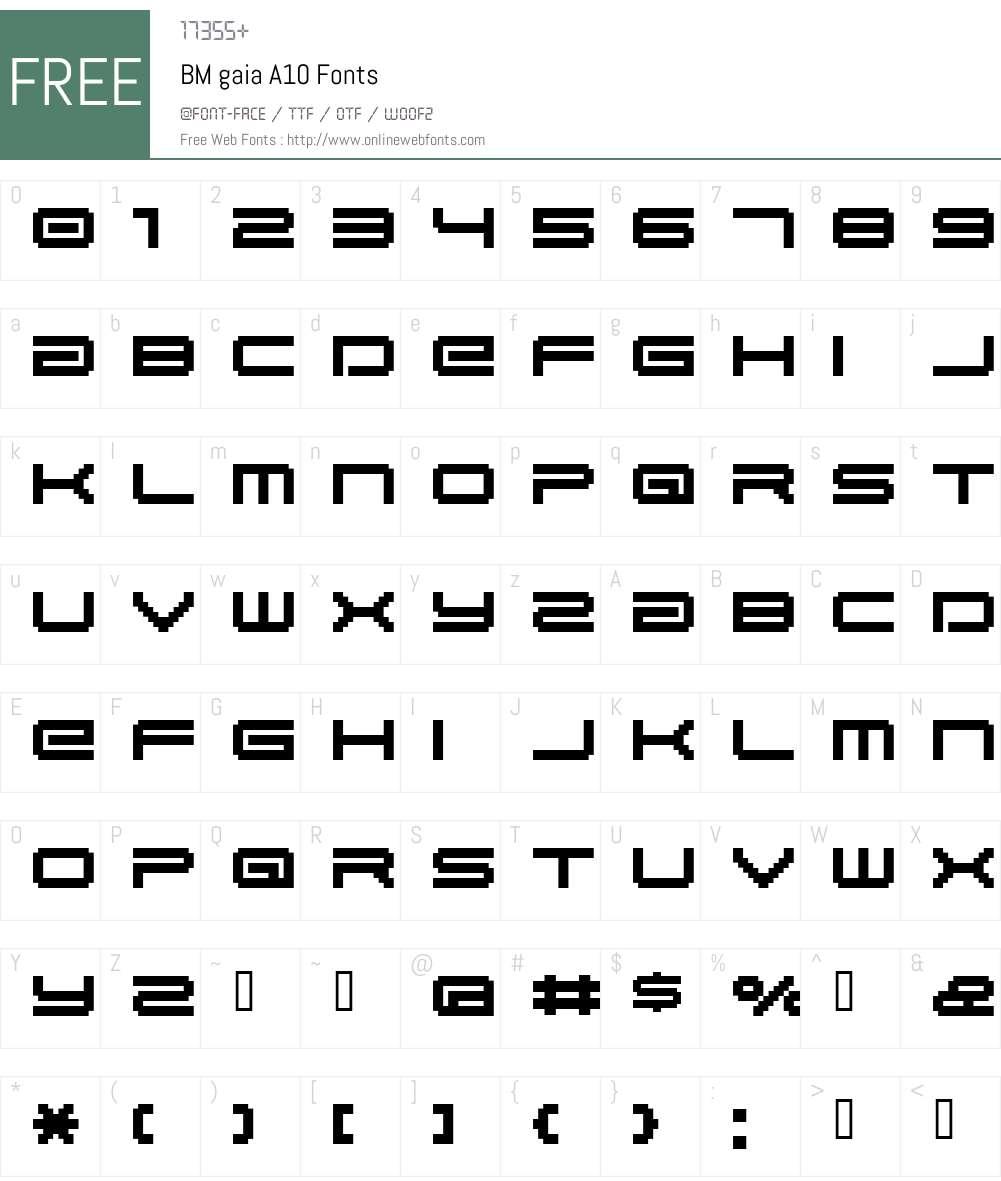 BM gaia Font Screenshots