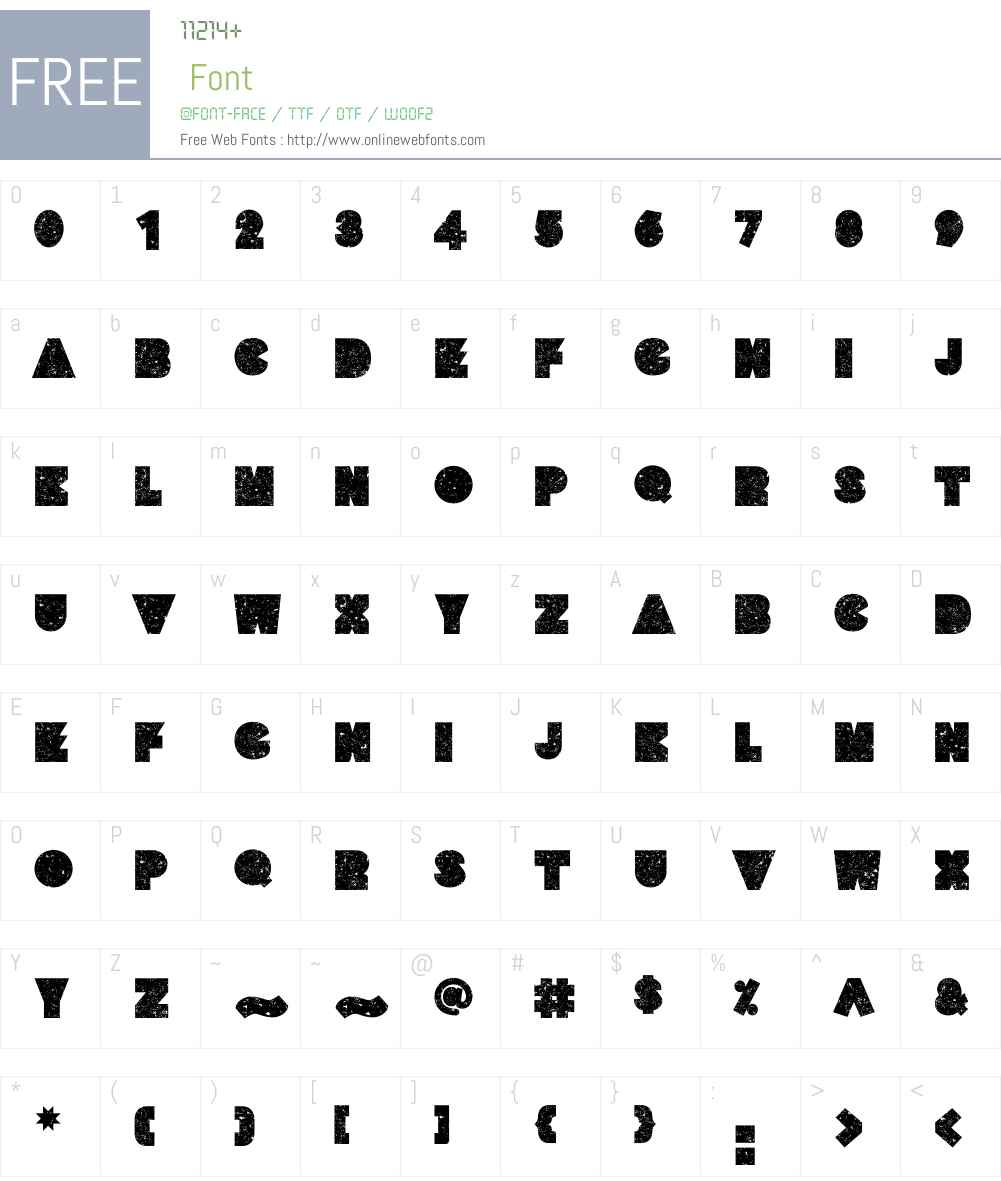 YumoW00-Regular Font Screenshots
