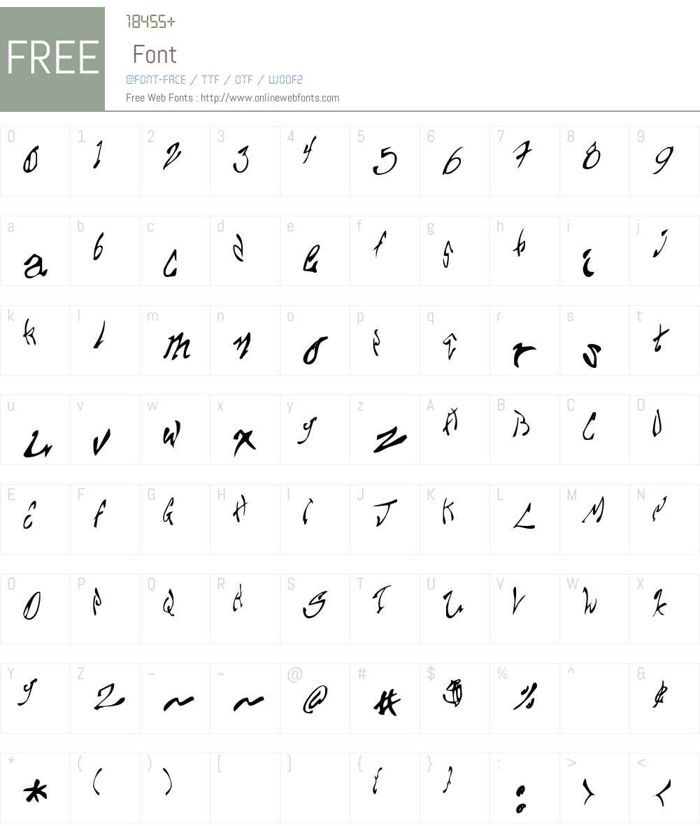Chupa10 Font Screenshots