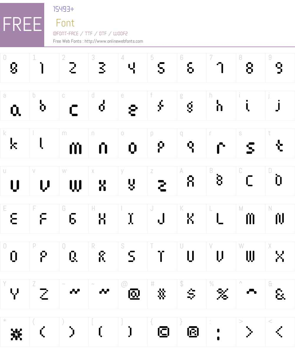 Amoebic Font Screenshots