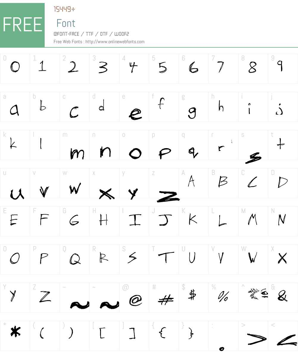 The Hand of Tes Font Screenshots