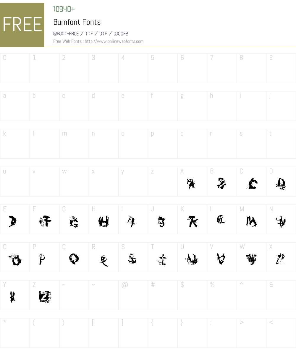 Burnfont Font Screenshots