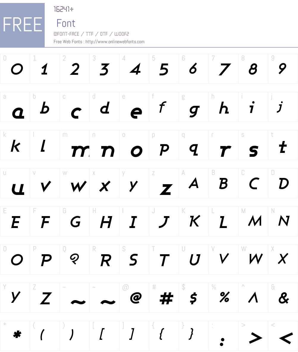 Ashby Font Screenshots