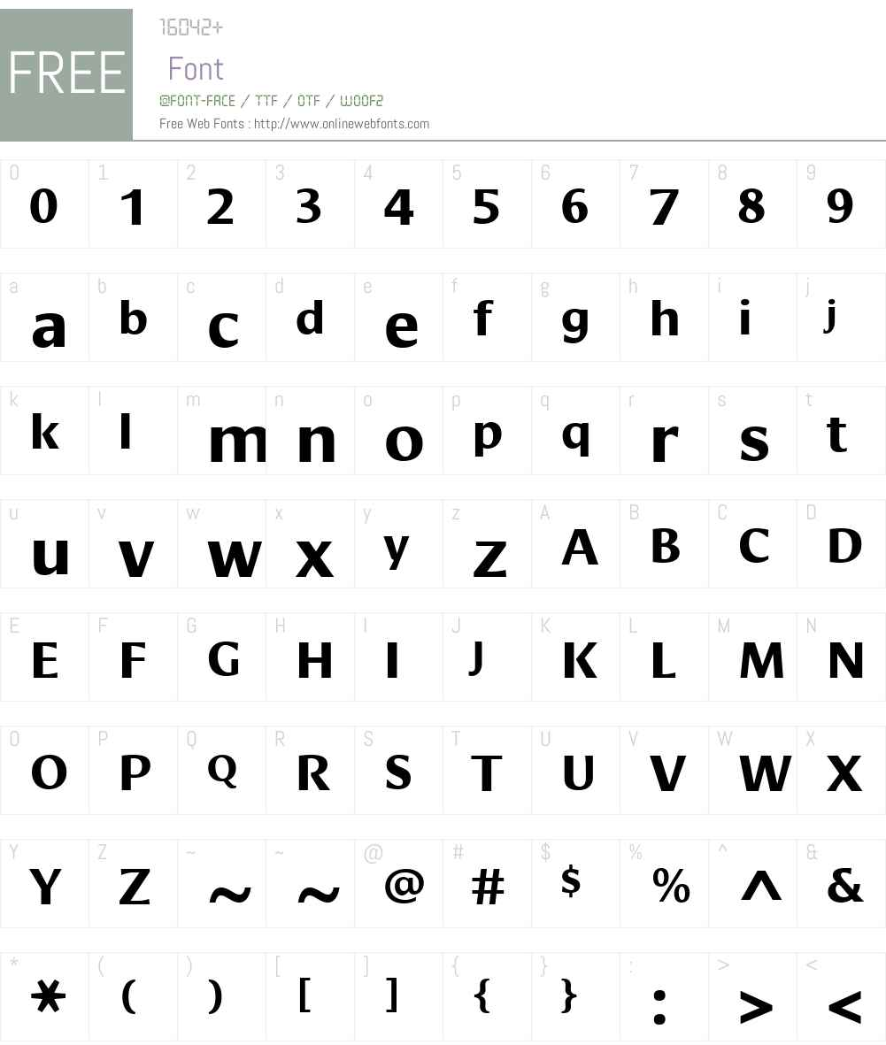 Cora Font Screenshots