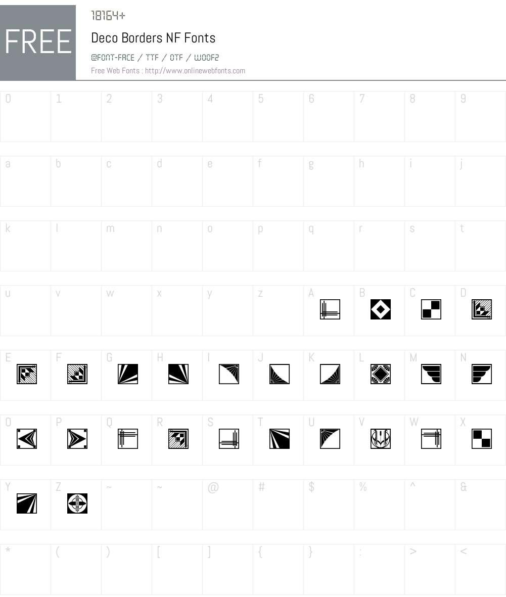 Deco Borders NF Font Screenshots