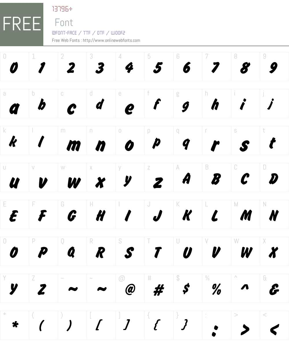 Brush Hand New Font Screenshots