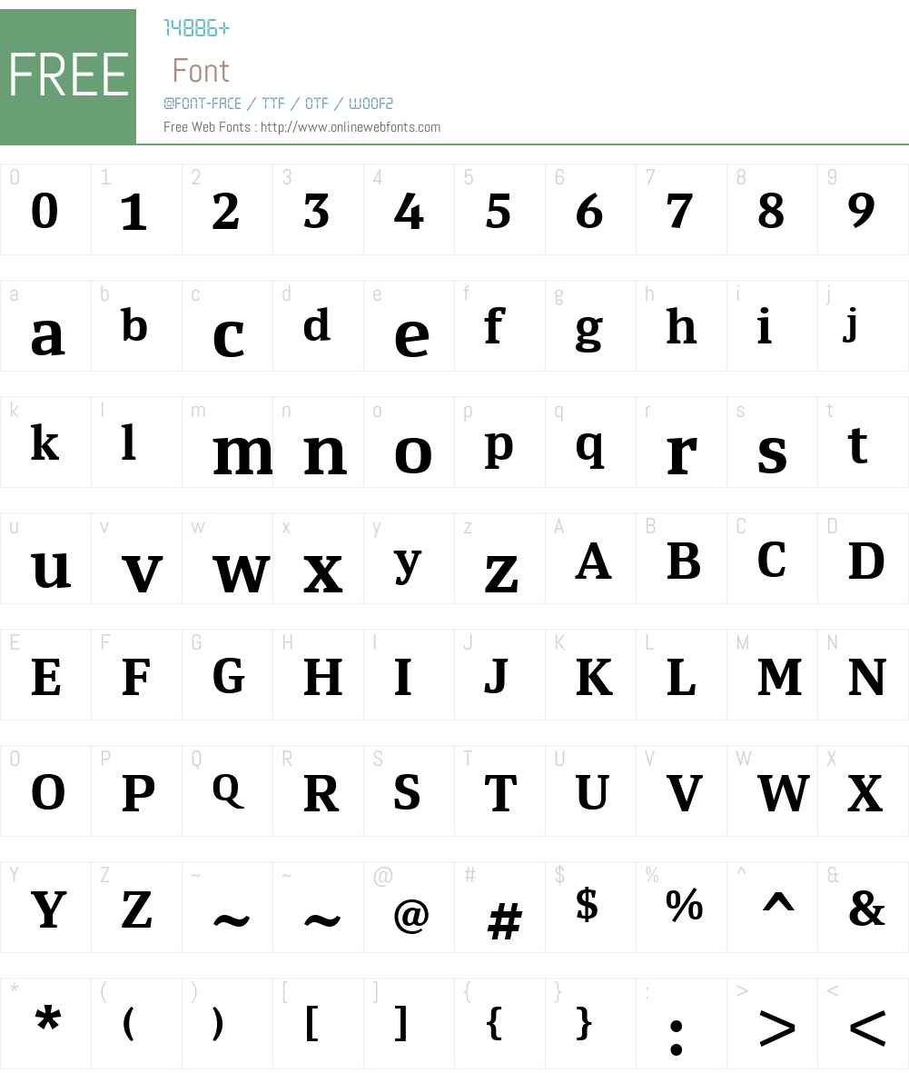 Yefimov Serif Font Screenshots