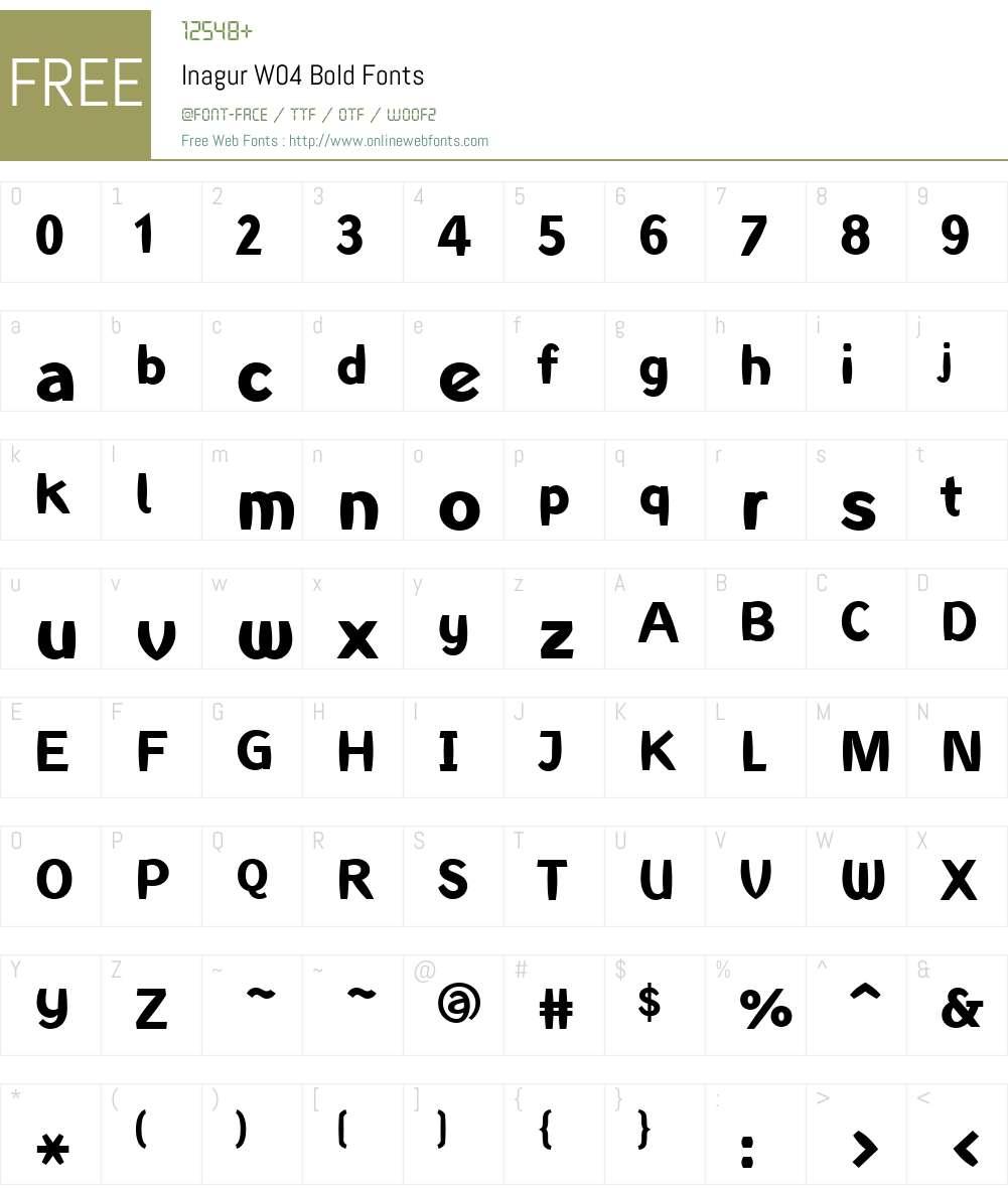 Linotype Inagur Font Screenshots