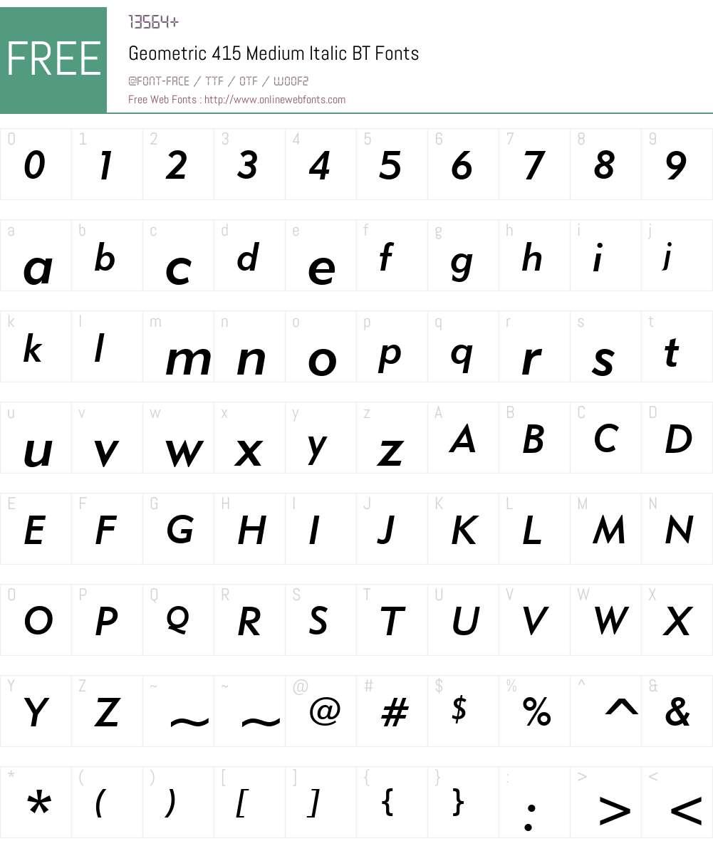 Geometr415 Md BT Font Screenshots