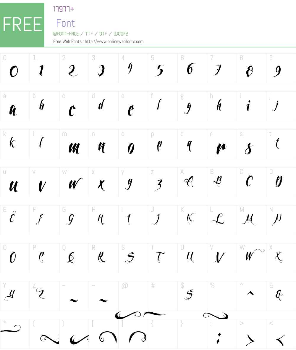 Feathergraphy Less Decoration Font Screenshots
