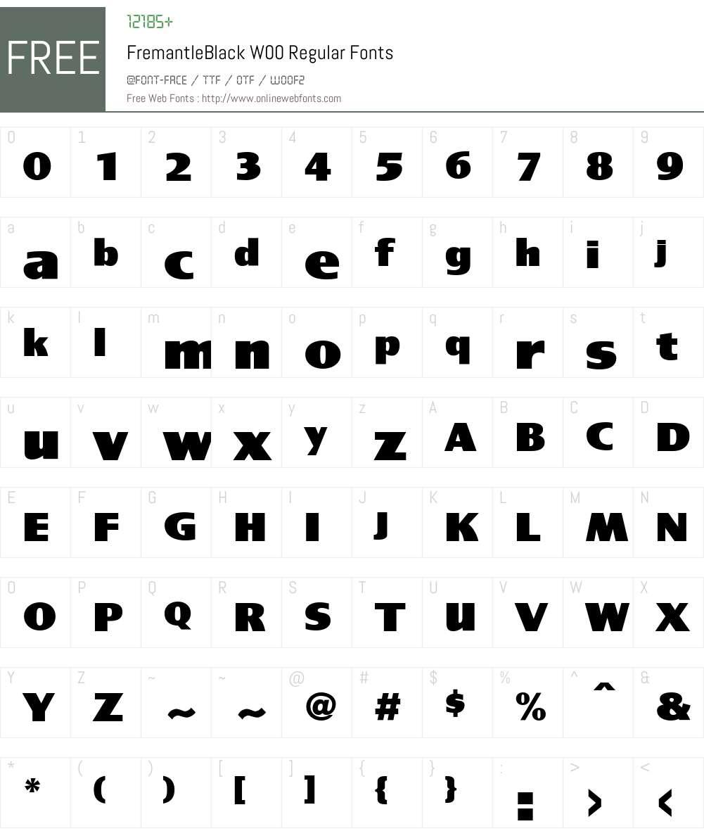 FremantleBlackW00-Regular Font Screenshots