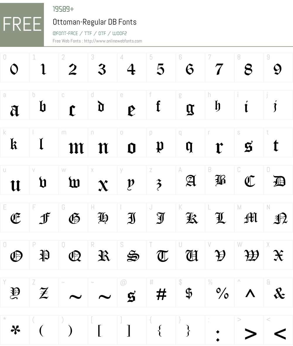Ottoman DB Font Screenshots
