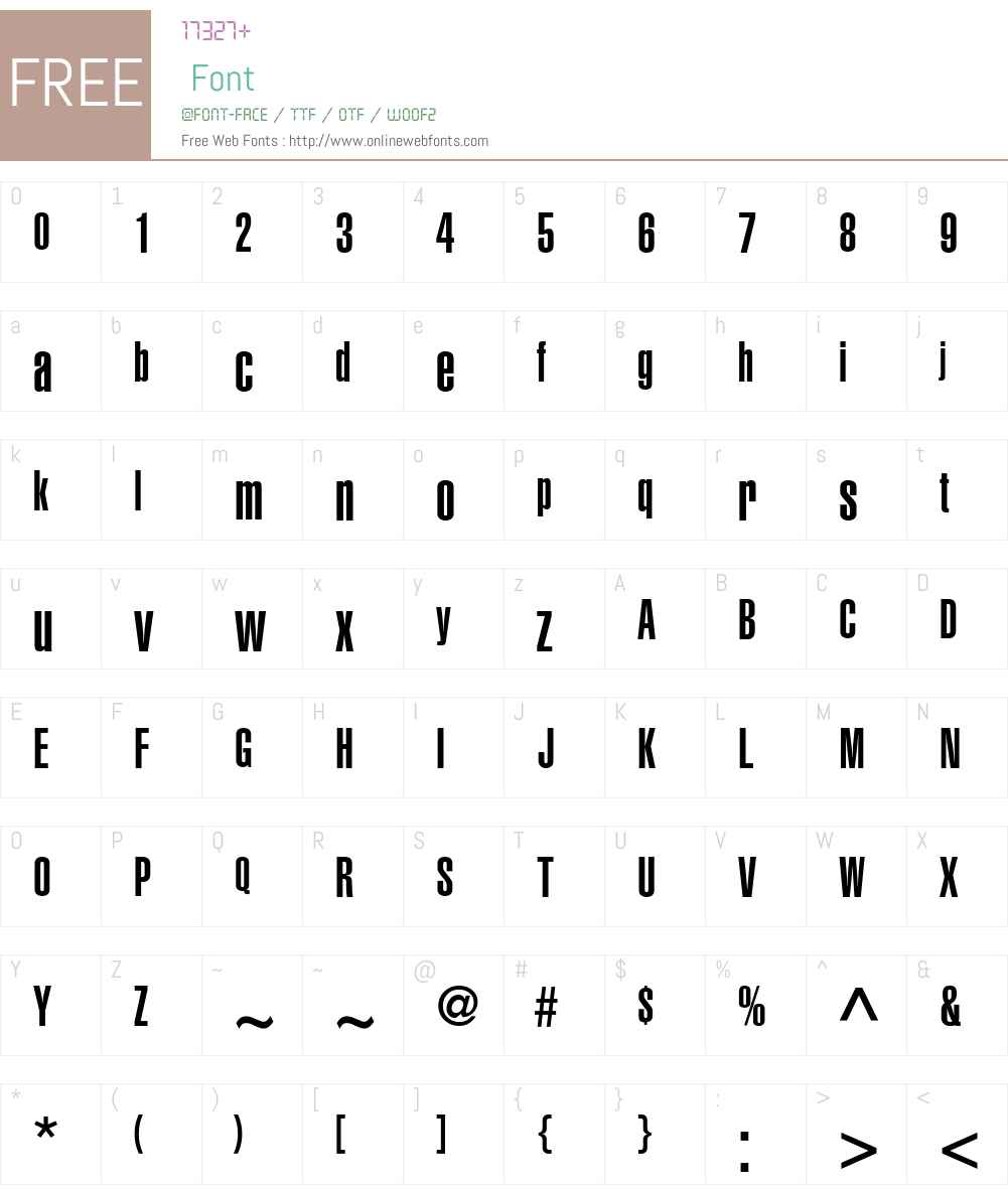 Helvetica LT UltraCompressed Font Screenshots