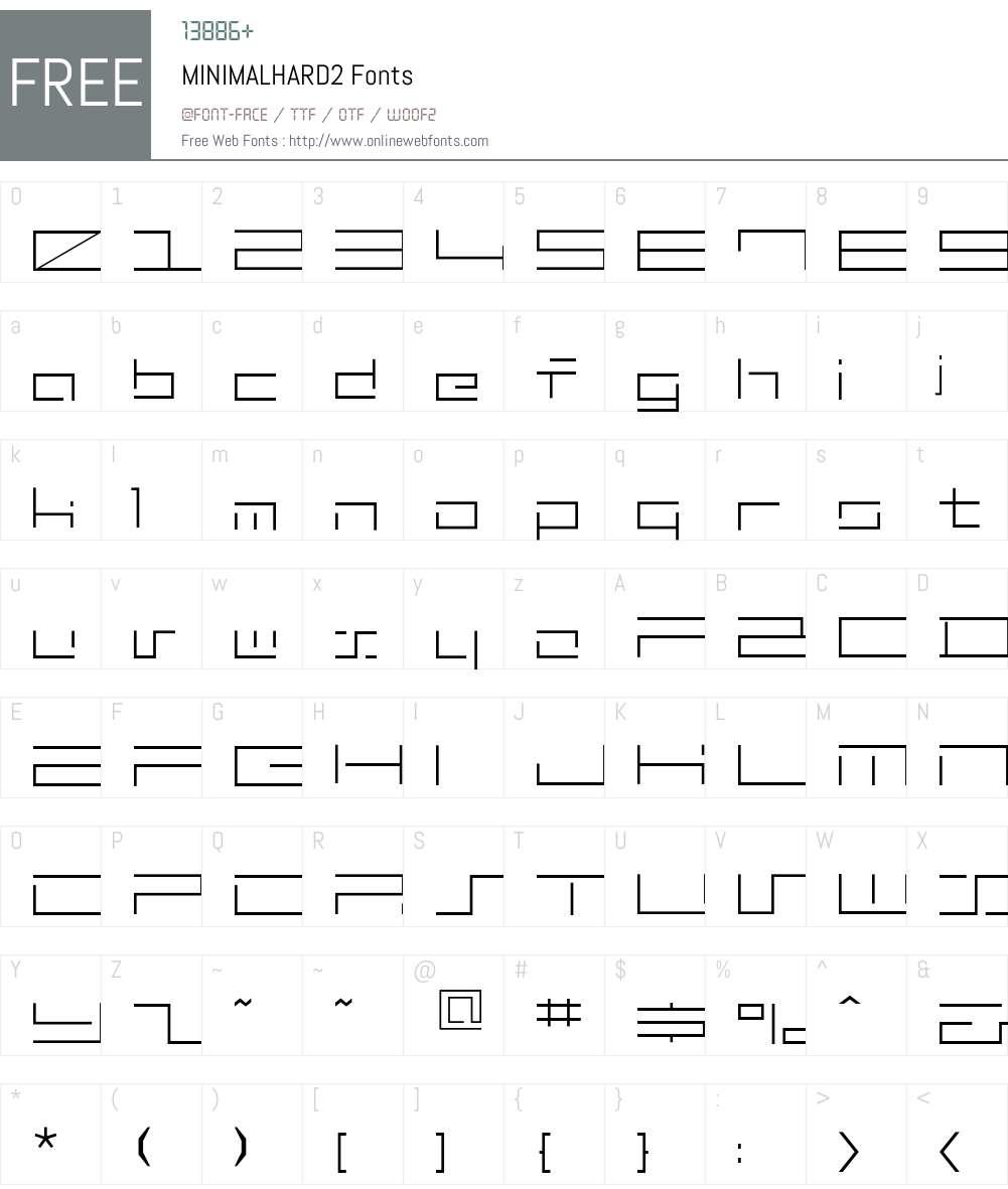 MINIMALHARD2 Font Screenshots