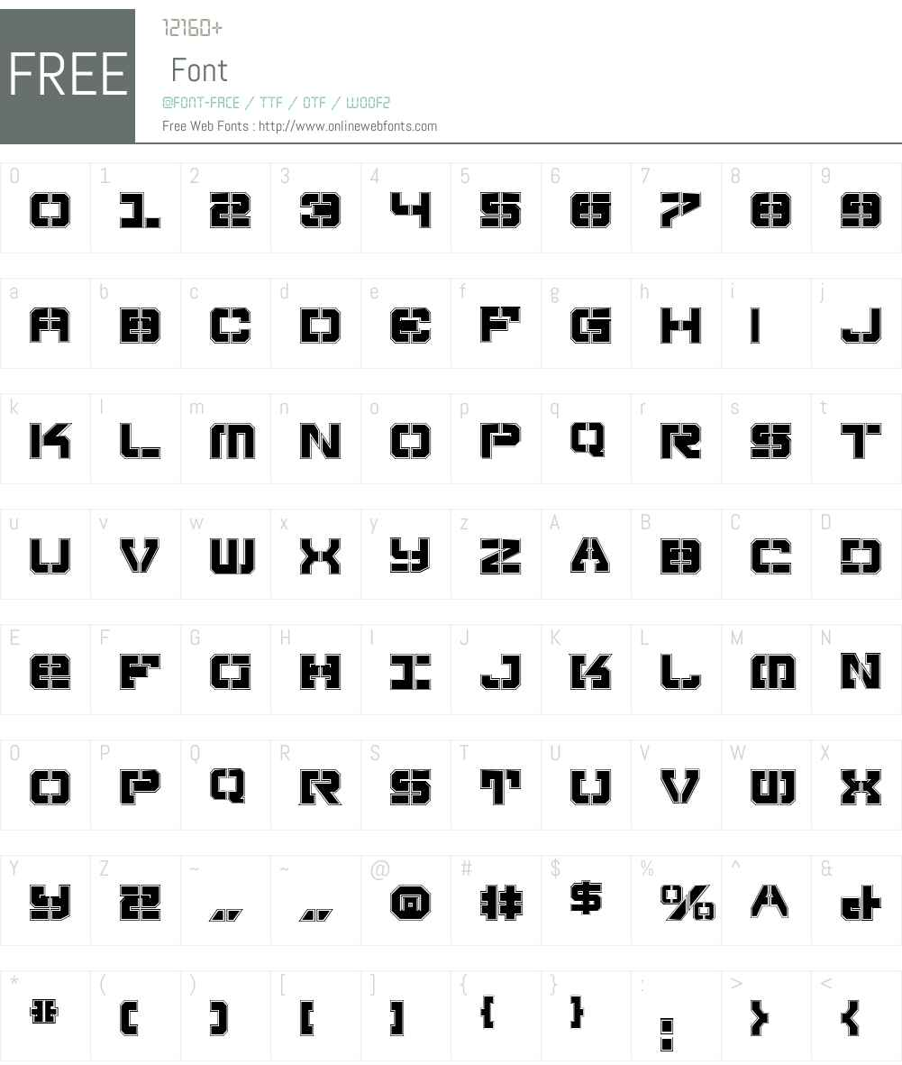 Vyper Pro Font Screenshots