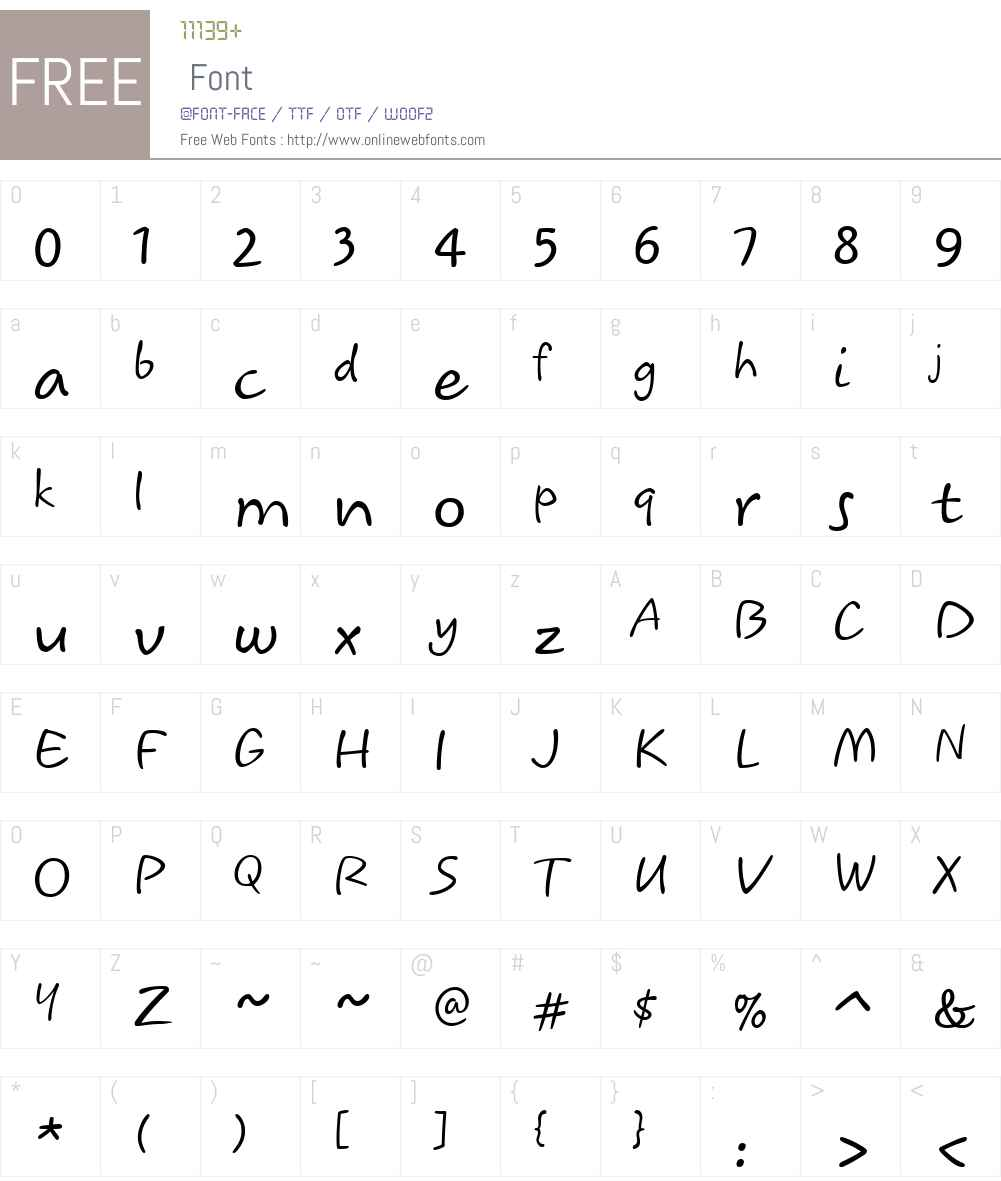 Koorkin Font Screenshots