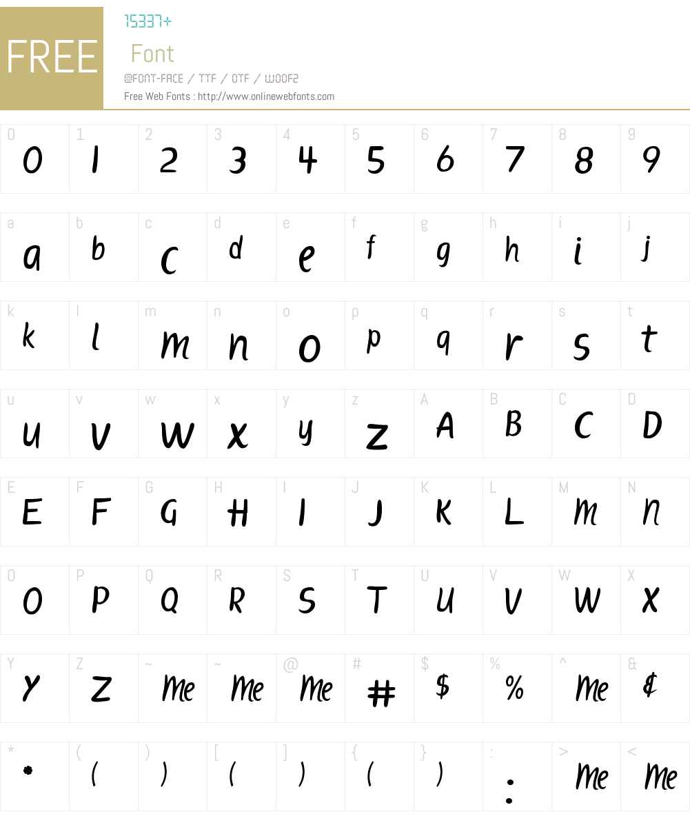 ScriptME New Font Screenshots
