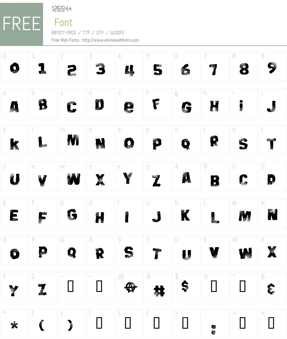Big Bloke BB Font Screenshots
