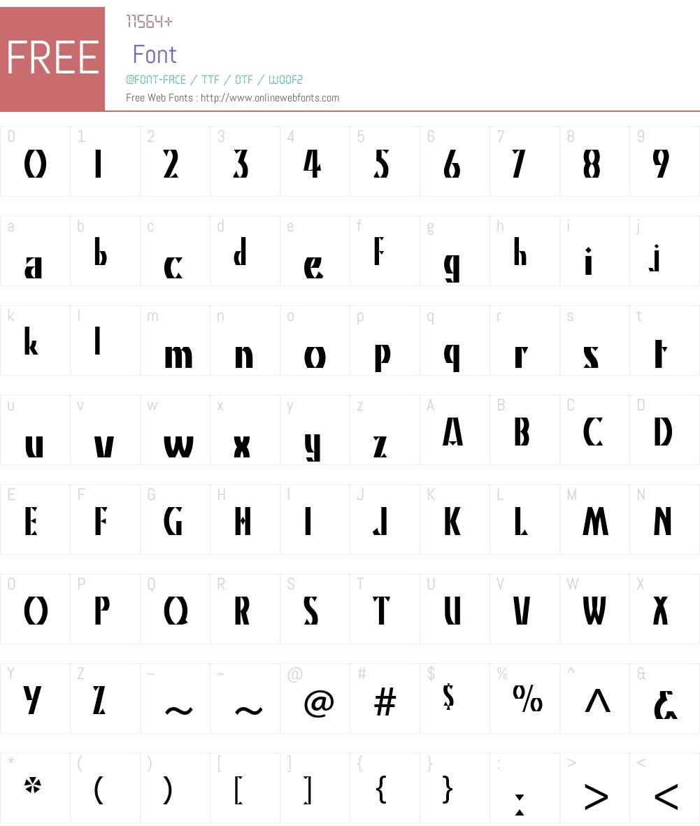 KinoW01 Font Screenshots