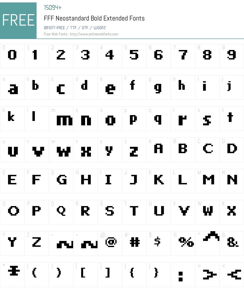FFF Neostandard Bold Extended Font Screenshots