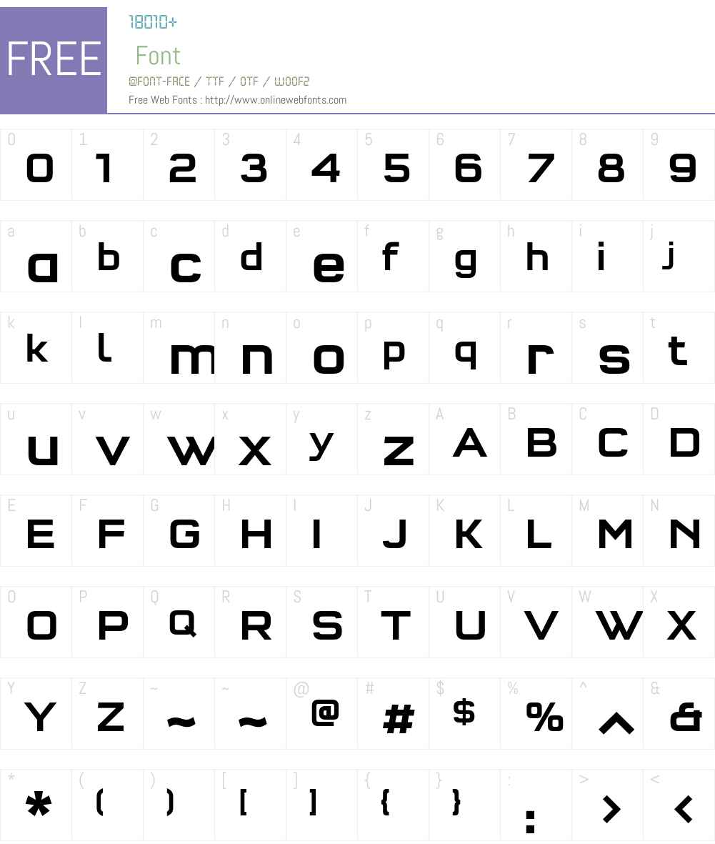 QTypeSquare-Medium Font Screenshots