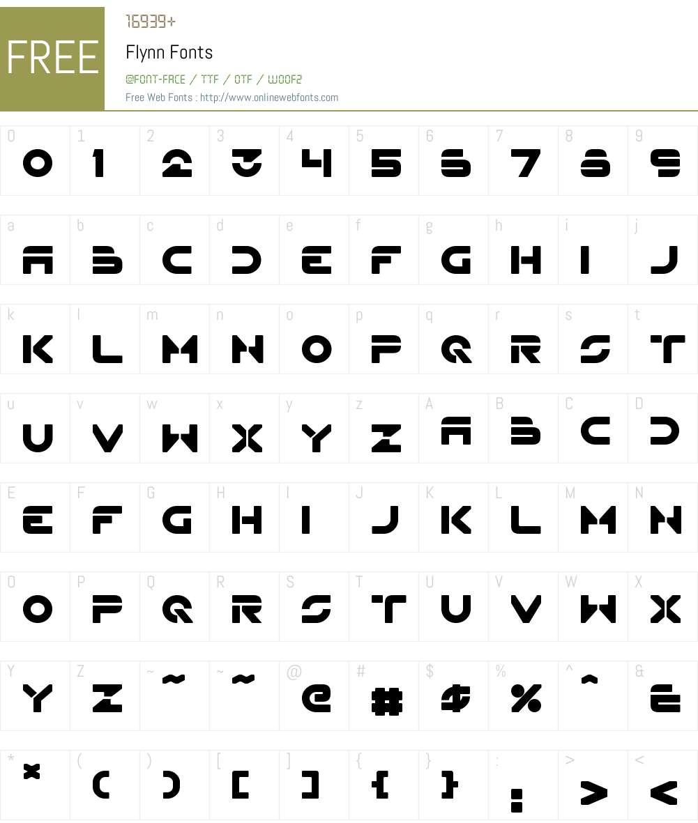 Flynn Font Screenshots