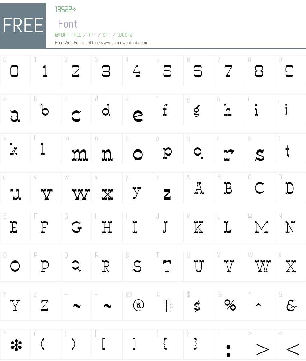 WyomingMacroni Font Screenshots