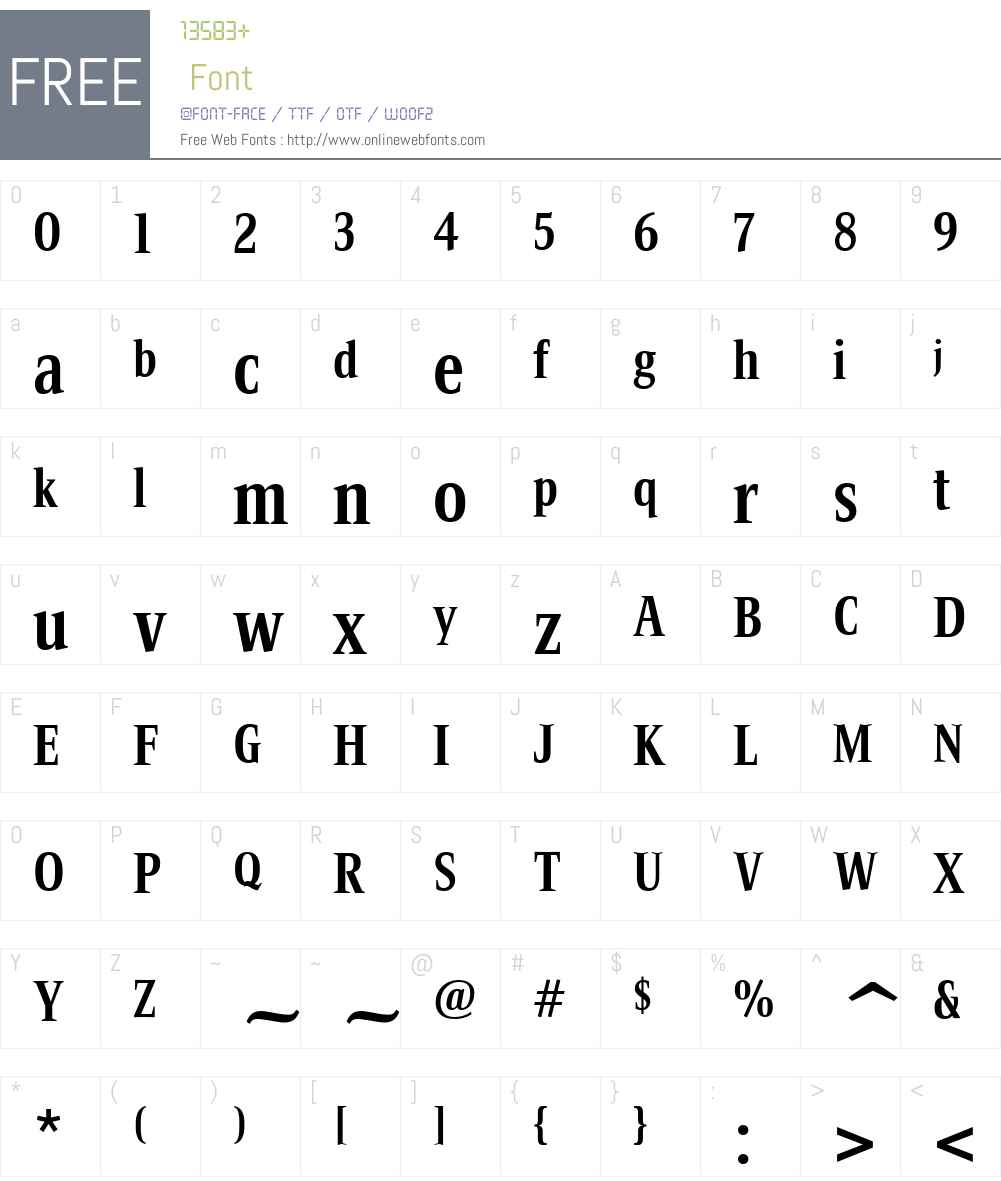 BartholemeMediumW01-Bold Font Screenshots