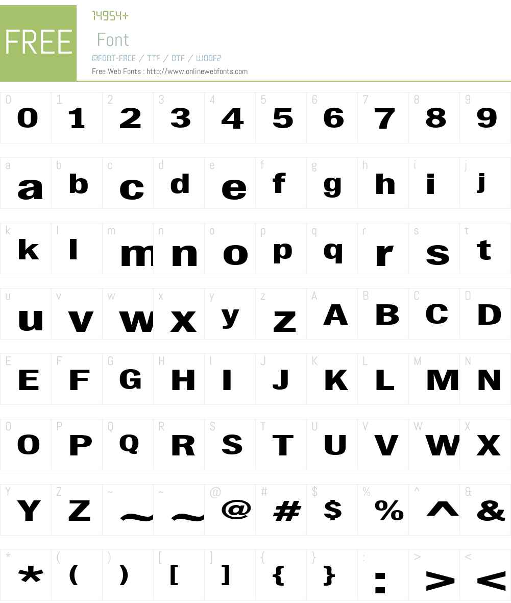 ChubbetDistendedW01-Regular Font Screenshots