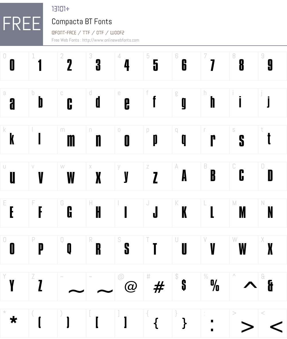 Compacta BT Font Screenshots