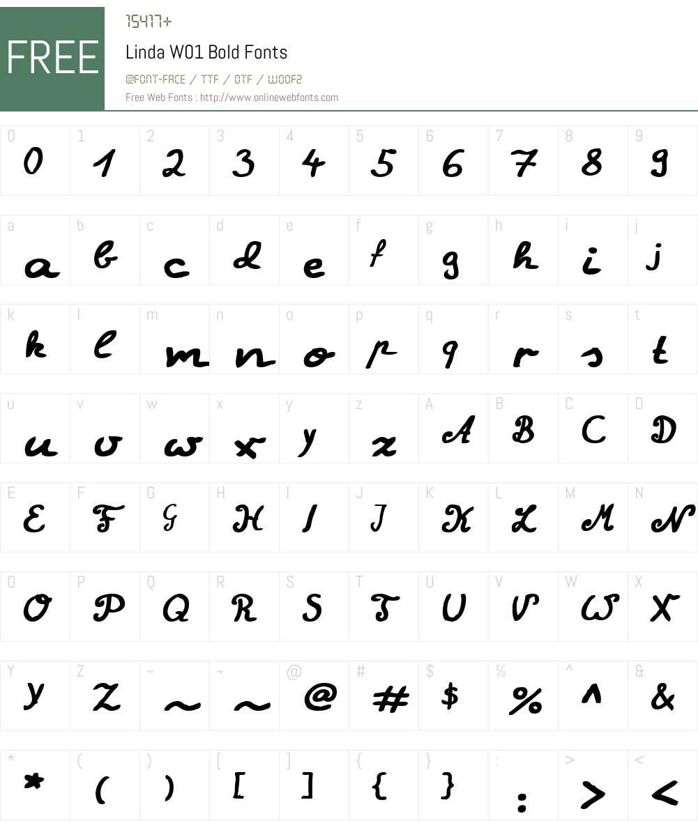 LindaW01-Bold Font Screenshots