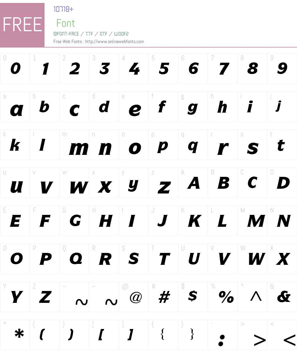 ITC Symbol Std Font Screenshots