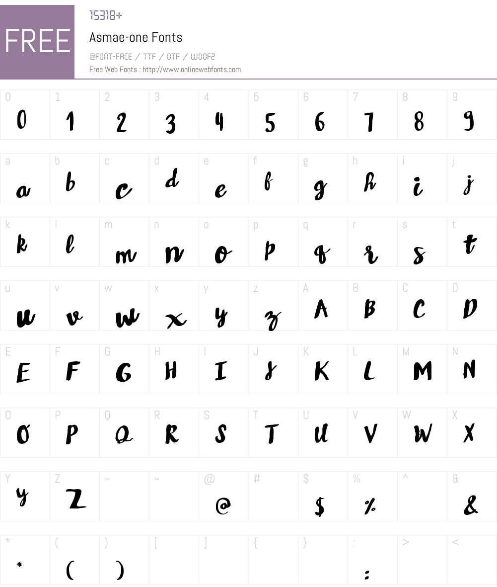 Asmae Font Screenshots