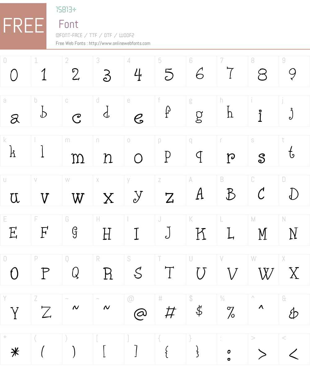 Phank Font Screenshots