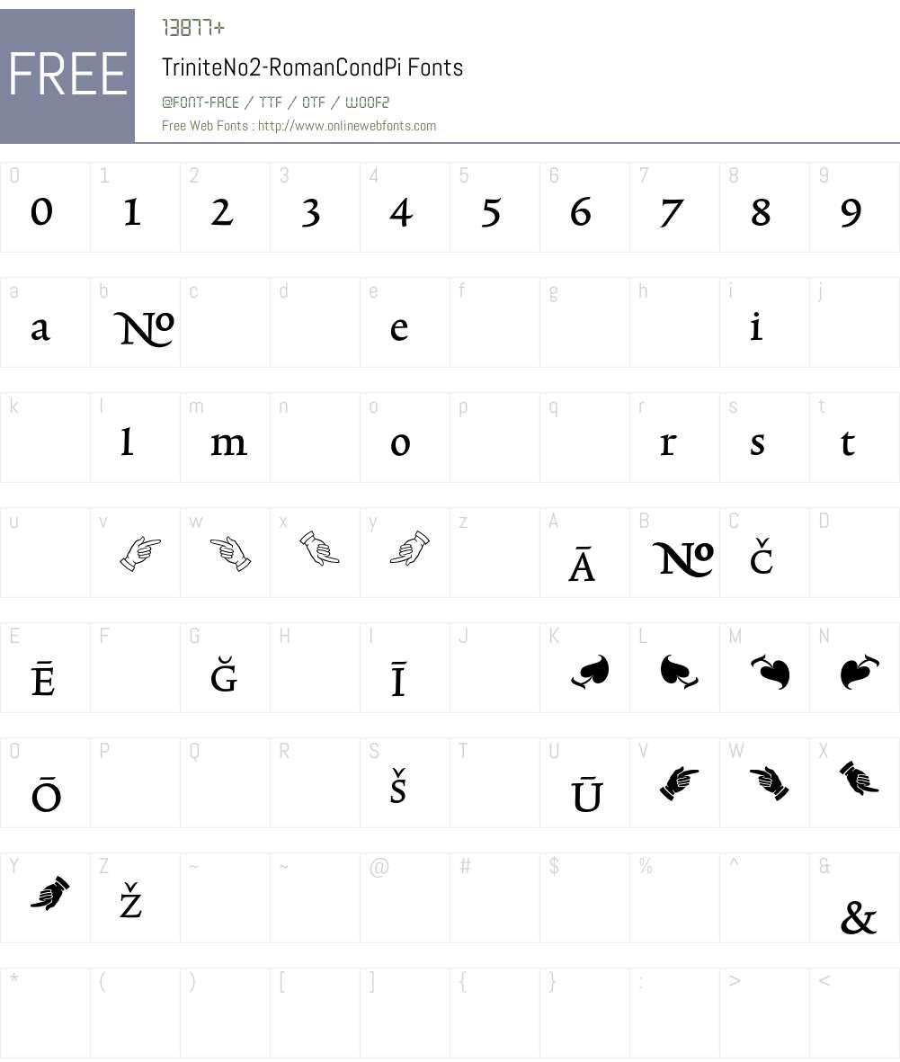 TriniteNo2 Font Screenshots