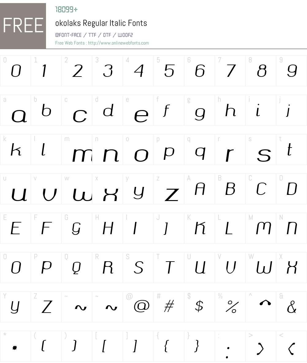 okolaks Font Screenshots