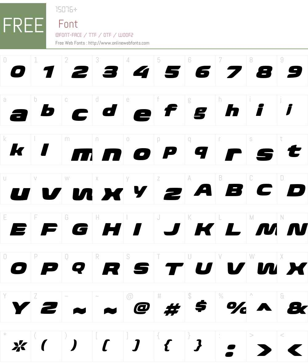 BiomeW01-WideUltraItalic Font Screenshots