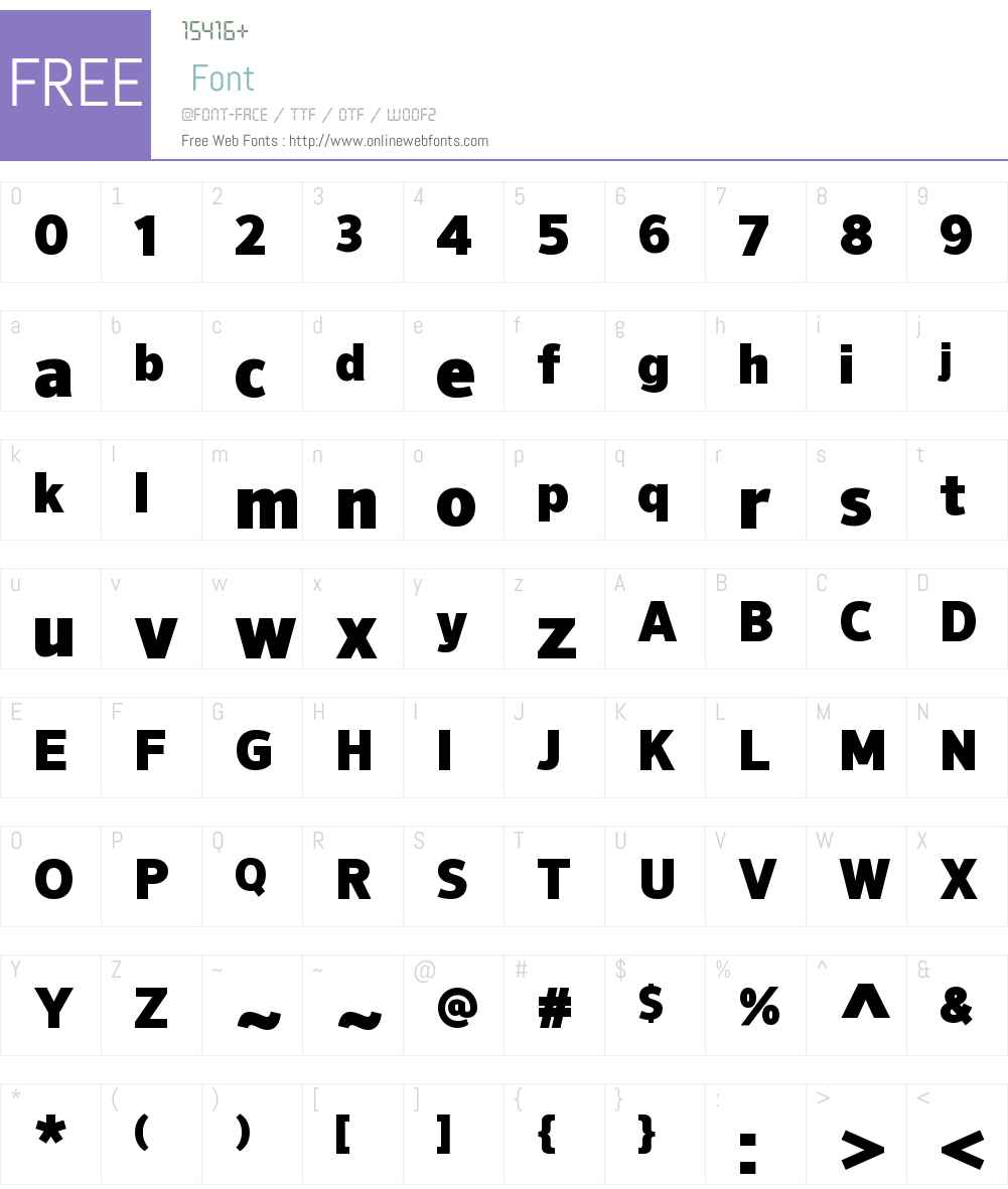 NuOrderW00-Black Font Screenshots