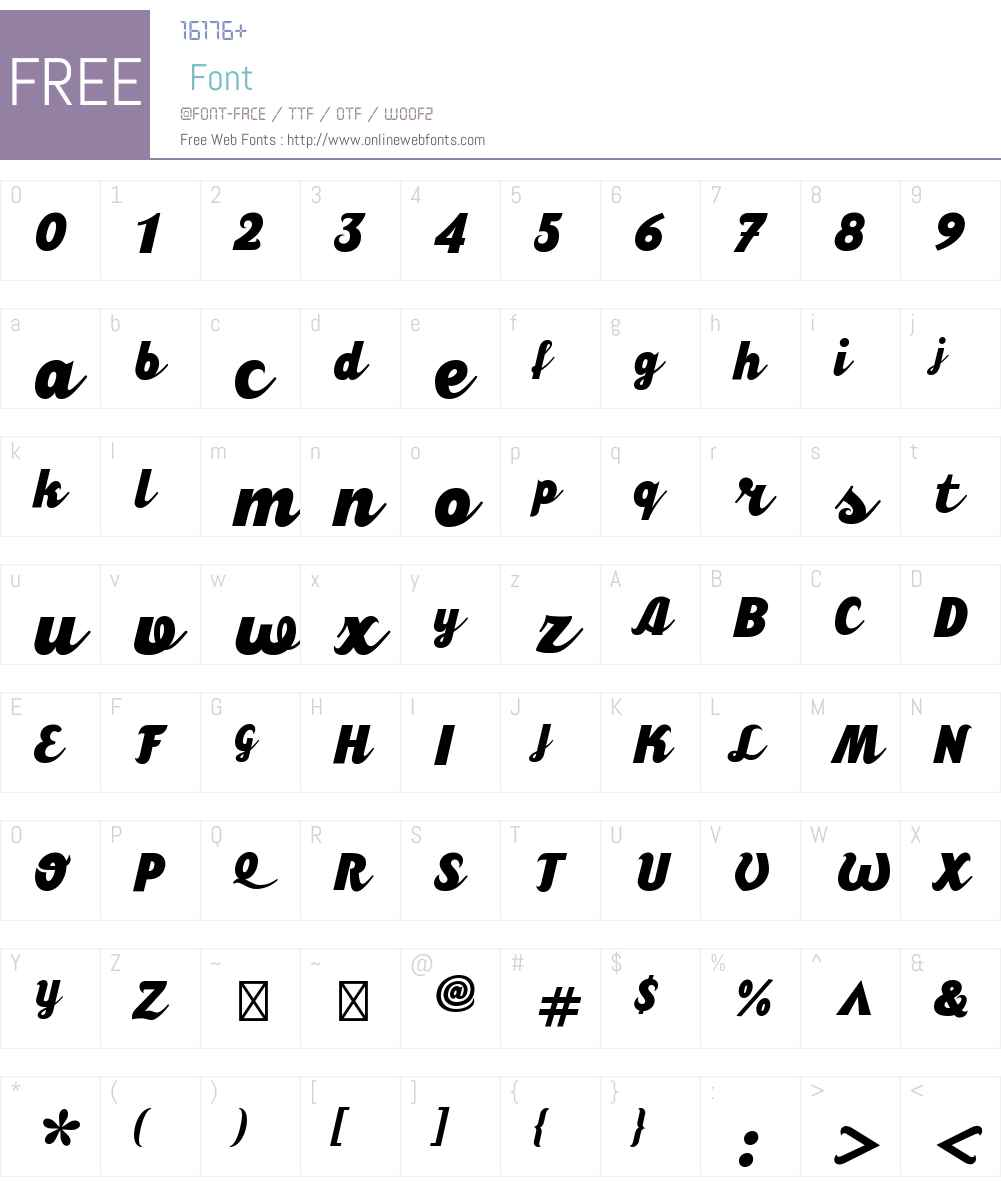 CalafatiW00-Bold Font Screenshots