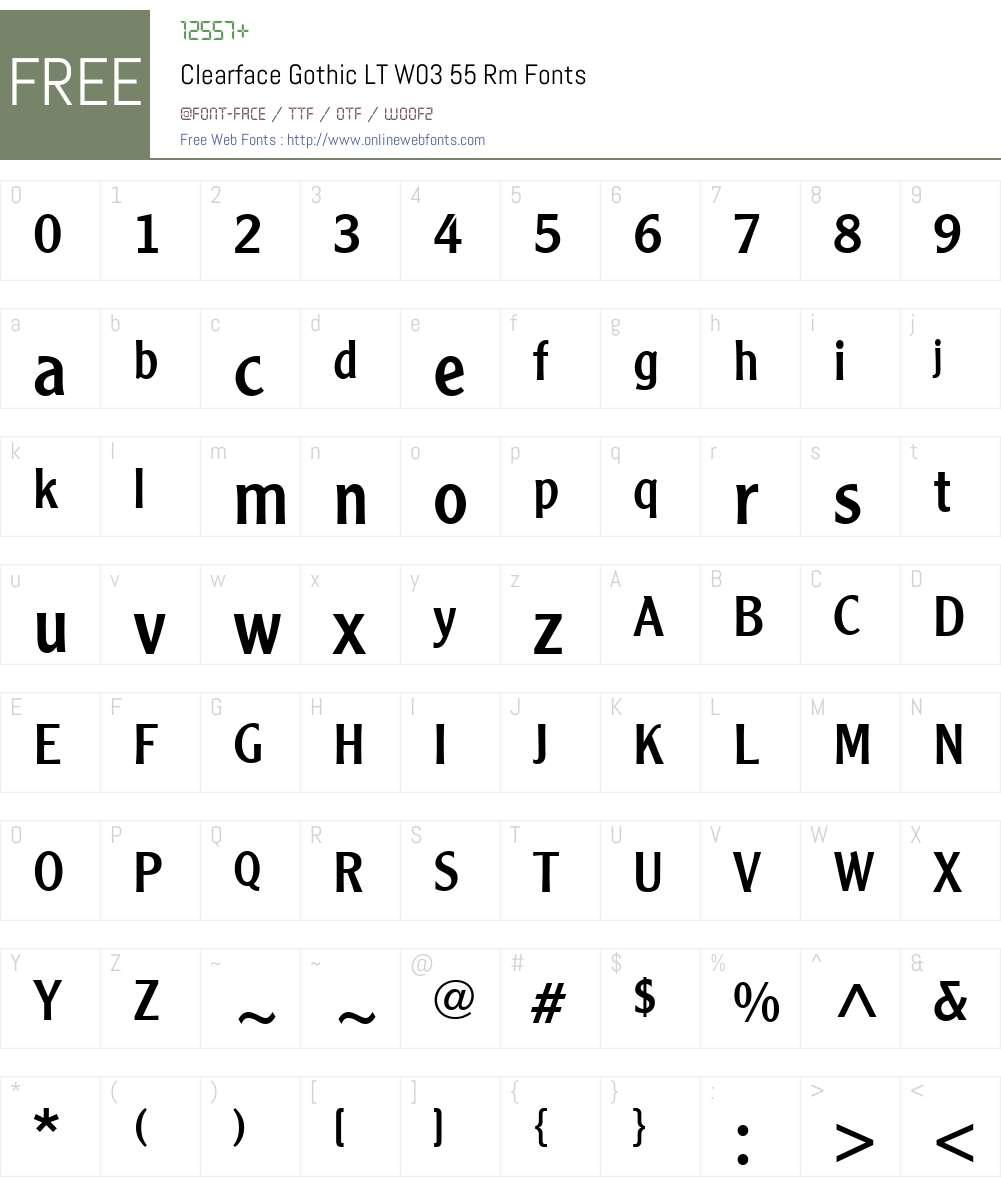 Clearface Gothic Font Screenshots